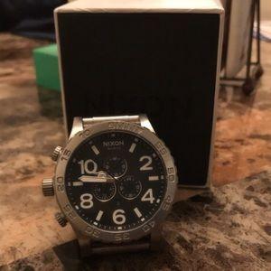 Nixon 51-30 Silver Watch